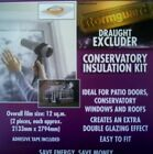 Double Glazing Draught Insulation SHRINK FILM KIT For Windows Patio Doors 12sqm