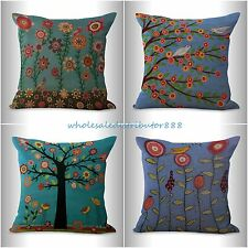 4pcs cushion covers retro boho flower decorative throw pillows for couch