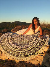Hippie Indian Round Mandala Tapestry Wall Hanging Beach Throw Rug Boho Yoga Mat