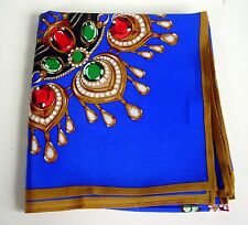 Women's 100% SILK Scarf/GORGEOUS GEOMETRIC/JEWELS DESIGN/CARTIER LOOK for Less!!