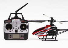 Radio Control RC Model Helicopter Red F46 2.4GHz w/ Gyro Ready To Fly New UK 03