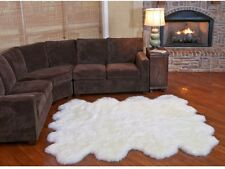 100% Genuine Sheepskin Area Rug Shear Style Natural Octo Luxurios Comfort Thick