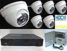 6 Motorized Zoom HD-CVI Security Camera System 1080p 2.4MP Sony CMOS, 2TB HD-DVR