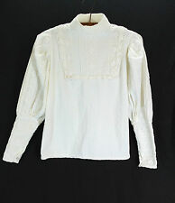 Vintage 1970s Laura Ashley Edwardian Victoriana Style Blouse White Wales Lace 12