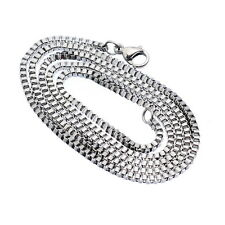 1PC New Stainless Steel Silver Tone 2mm Box Chain Necklace 51cm