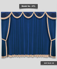 Saaria Home Theater Movie Hall Drapes Event Stage Decor Curtains 10'W x 8'H HT-5