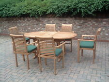 "TEAK GARDEN FURNITURE ""PARIS"" 14 PIECE STACKING SET 5 *** QUALITY TEAK PATIO SET"