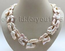 "20"" Genuine Natural 39mm Pink Baroque Reborn Keshi Pearl Necklace #f2801!"