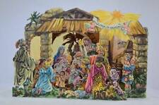 136] POP UP 3D NATIVITY SCENE CRECHE SYSTEME PRESEPE DI CARTA TRIDIMENSIONALE