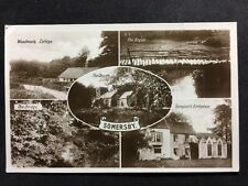 RP Vintage Postcard - Lincolnshire #A13 - Somersby Multi View