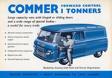 Commer Forward Control 1600 1 Ton Vans PA 1962/63 Original UK Brochure No. 845