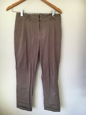 Atmosphere Size 8 Stretch Cotton Taupe Trousers  T9335