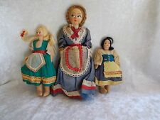 Vintage Cloth Dolls w/Hand-Painted Faces - Italy