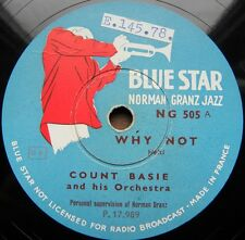 1095/ COUNT BASIE auf Blue Star-Fawncy Meeting you-Why not-Jazz-Schellack