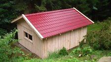 Holzgarage mit Satteldach Fertiggarage Geräteschuppen Gartenhaus 4m x 5m  Holz