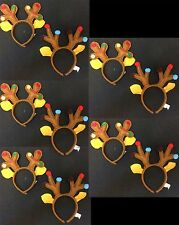 Kids Funny Novelty REINDEER ANTLER HEADBAND Ugly Christmas Sweater Party-10p LOT