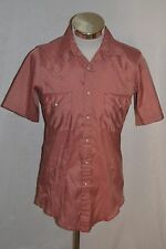 Women's Rose Western Frontier Western Cowboy Snap Button Shirt Size Small