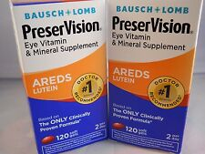 Bausch & Lomb Preservision Eye Vitamin and Mineral Supplement,Areds Lutein 120