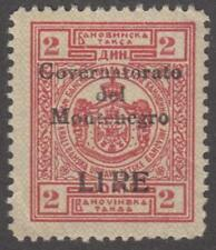 Montenegro Italian WW2 Occupation Revenue Barefoot #18 unused 2L/2D 1942 cv $46