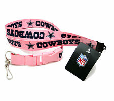 DALLAS COWBOYS PINK LANYARD KEYCHAIN DOUBLE SIDED LICENSED NFL COWBOYS SOUVENIR