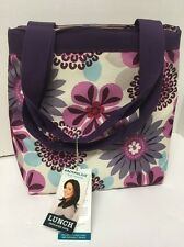 NWT Rachael Ray Insulated Lunch Bag Tote New with tags Purple Flowers