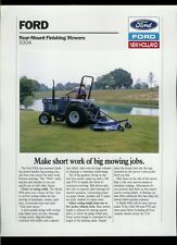 Vintage Factory 1988 Ford New Holland 930A Finishing Mower Dealer Sheet Page