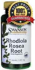 Raíz Rhodiola rosea Swanson - 100 Cápsulas - 400 Mg-Artic rosea depresión