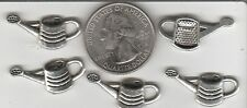 YOU GET 30 SILVER TONE METAL WATERING CAN CHARMS  FROM  .U,S. SELLER.  -A2