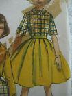 Vintage Simplicity 2284 BLOUSE w/ SLIM or FULL SKIRT Sewing Pattern Girls Sz 10