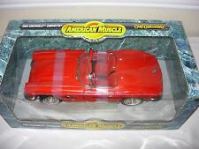 Ertl 1962 American Muscle Chevy Corvette Convertible 1:18 Diecast Car-Red-New