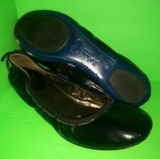 MARIA SHARAPOVA COLE HAAN Nike Air Black Patent Leather Ballet Flats 9 C Wide 9C