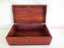 "Lane Cedar Jewelry Box Hope Chest Hinged 9"" Long 5"" Wide 3.5"" Deep Red Brown"