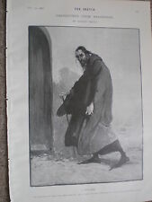 Characters from Shakespeare Shylock by Dudley Hardy 1902 old print ref W2