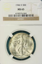 1946-S NGC MS65 Walking Liberty Half Dollar!! #HT