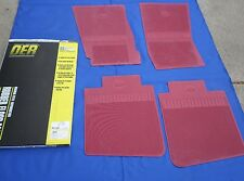 NEW 1968-74 Chevy Nova SS Accessory Bowtie Floor Mats OER RED Rubber