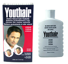 Youthair Creme for Men Hair Color & Conditioner , Restore Natural Color  8oz