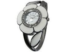 FLOWER SHAPED WATCH ENCRUSTED IN CRYSTALS AROUND DIAL