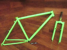"RARE ORIGINAL FAT CHANCE YO-EDDY STEEL 26"" CANTILEVER BRAKE FRAME & FORK SET 17"""