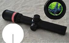 New 1.5-6x24 Fiber Optic Scope Red Triangle illuminated Reticle + 20mm Mounts