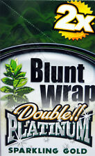 "1 box Blunt Wrap double ""sparkling Gold"" = 50 Blunts New premium!"
