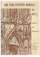 Normandie Une page d'épopée mariale au XII siècle Récit  Haimon St Pierre DIVES
