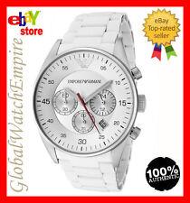 *New* Emporio Armani white Chrono sportivo Mens watch AR5859 - RRP 345$