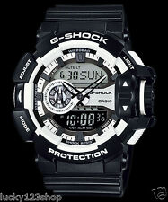 GA-400-1A Black White G-Shock 200m Digital Resin Band 200m Casio Sport Men's