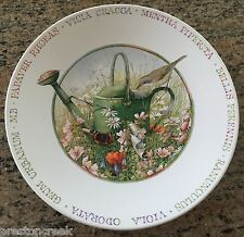 "Marjolein Bastin Wildflower Meadow 8"" Plate - Bird with Watering Can!"