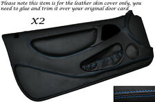 BLUE STITCH 2X FULL DOOR CARD LEATHER SKIN COVERS FITS LOTUS ELAN M100 89-95