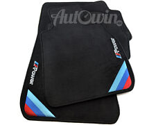 BMW X5 Series F15 Black Floor Mats M Power Emblem RHD Side Clips UK