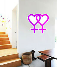 "Lesbian Symbol Gay Pride Wall Decal Large Vinyl Sticker 24"" x 22"""