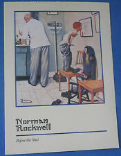 Before the Shot (Boy Visiting Doctor) Norman Rockwell  - Artist Postcard