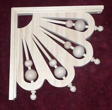 """Victorian Wood Gingerbread {12"""" x 12""""} Spindle & Ball Trim Bracket #53 ~ by  PLD"""