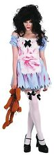 Ladies Sexy Zombie Dead Alice in Wonderland Halloween Fancy Dress Costume Outfit